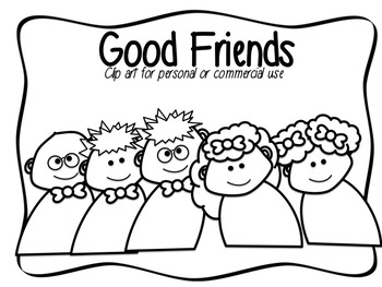 Good Friends Clip Art - Commercial/Personal Use