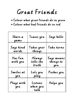 Being A Good Friend Activities & Worksheets | Teachers Pay