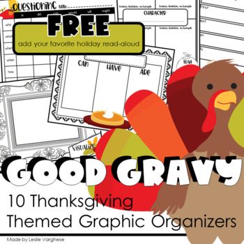 Good Gravy Graphic Organizers for Thanksgiving Books and Read-Alouds