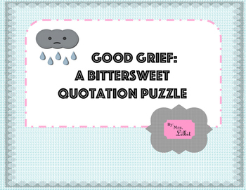 Good Grief Quotation Puzzle