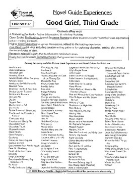 Good Grief, Third Grade Literature Guide
