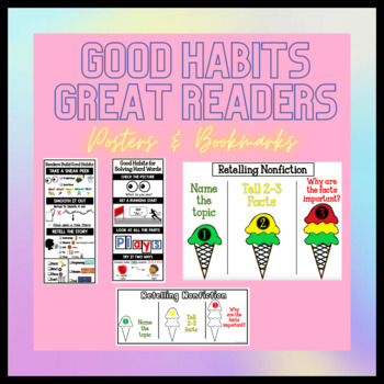 Good Habits Great Readers Posters and Bookmarks (ENL FRIENDLY)