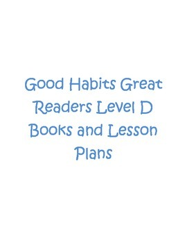Good Habits Great Readers