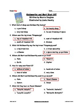 Good Habits, Great Readers Goldsworthy and Mort Blast Off Comprehension Test