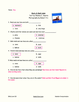 Good Habits, Great Readers Unit 3, Week 3 Guided Reading Comprehension  Tests