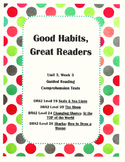 Good Habits, Great Readers Unit 3, Week 3 Guided Reading C