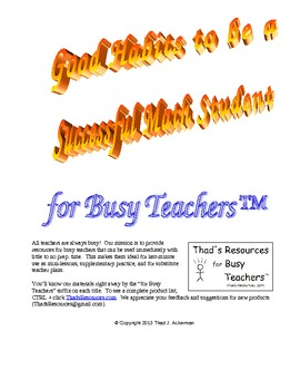 Good Habits to be a Successful Math Student for Busy Teachers