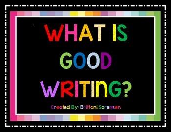 Good Handwriting Visual Aide: What Is Good Writing?