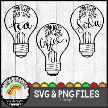 Good Ideas Start With:  Coffee, Tea, Soda