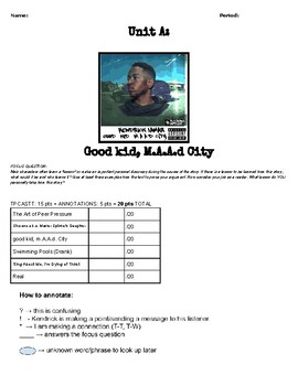Good Kid, M.A.A.D City: Student Packet