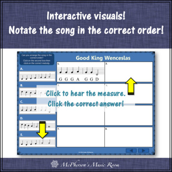 Good King Wenceslas- Recorder PowerPoint Visuals (Notes DEF#GABCD)