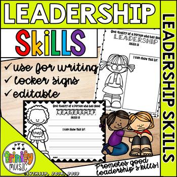Good Leadership Skills (Editable) Worksheets & Locker Signs