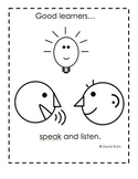 Good Learners Speak and Listen Mini-Poster Anchor Chart