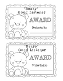Good Listener Award Printable