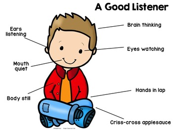 good listener poster by winged one teachers pay teachers