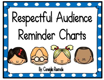 Good Listener/Respectful Audience Reminder Charts (Blue Polka Dots)