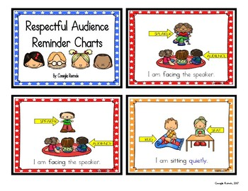 Good Listener/Respectful Audience Reminder Charts (Assorted Colors with Stars)