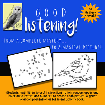 Good Listening! Magic Animal Pictures - Listening Comprehension Dot-to-Dot