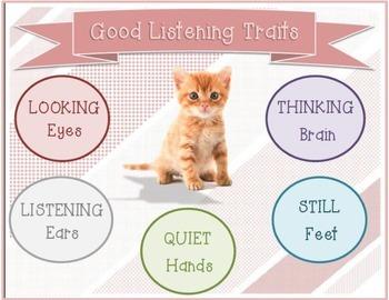 Good Listening Sheets- Cats