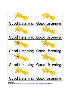 Good Listening Tickets