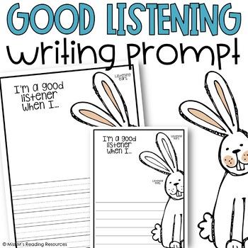 Good Listening {Writing Activity}