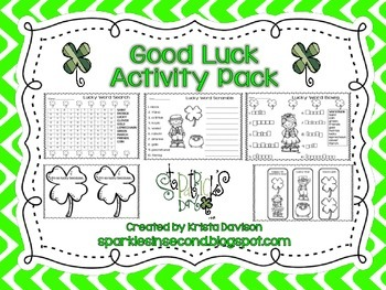 Good Luck Activity Pack