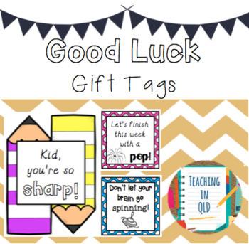 NAPLAN Good Luck Gift Tags