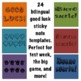 Good Luck: Test Week Printable Sticky Note Templates