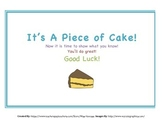 Good Luck on Test Certificate - It's A Piece of Cake!