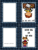 Good Luck on Your Test Card for teachers or parents