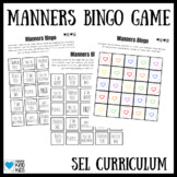 Good Manners Bingo Game for SEL Curriculum