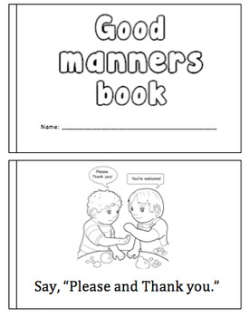 Good Manners Mini Book