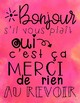 Good Manners Poster ~ French *Free*