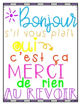 FREE Good Manners Poster in French