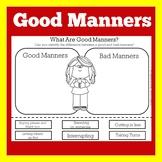 Good Manners Worksheet | Good Manners Activity | Good Manners Kindergarten