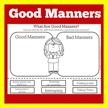 Good Manners Worksheet | Good Manners Activity | Good Manners Kindergarten