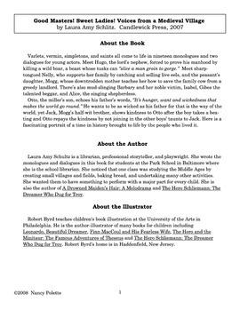 Good Masters! Sweet Ladies! Literature Guide
