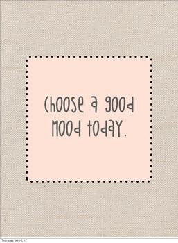 Good Mood Burlap Print