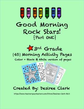 Good Morning Rock Stars! {45} 3rd Grade Morning Work Activ