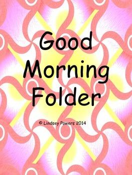 Good Morning Binder - Morning Work