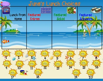 Attendance and Lunch Count for SMARTboard