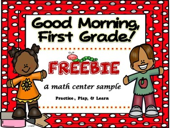 Good Morning, First Grade September FREEBIE