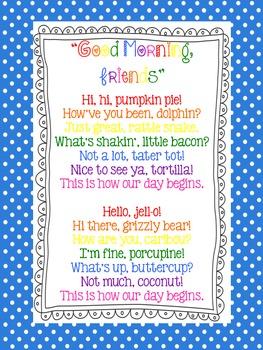 """Good Morning, Friends"" Poster FREEBIE"