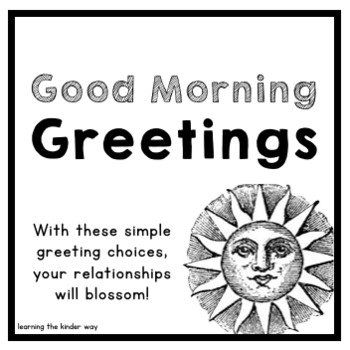 Good Morning Greeting Options