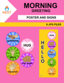Good Morning Greeting Small Poster and Signs