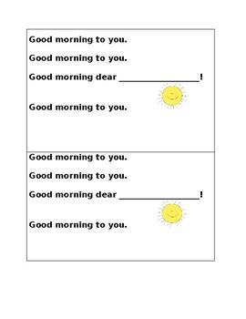 Good Morning Interactive Poem