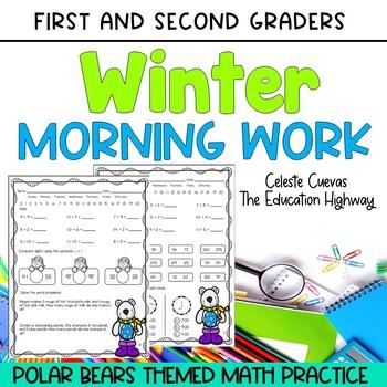 Winter Math Morning Work 1st Grade