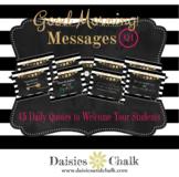 Good Morning Message Q1