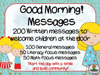 Good morning messages by growingroots teachers pay teachers good morning messages m4hsunfo