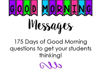 Good Morning Messages - Whole Year - Motivational & Engaging